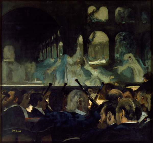 Fig. 2. Edgar Degas, Ballet Scene from Meyerbeer's Opera 'Robert le Diable', 1876, oil on canvas, 76.6 x 81.3 cm, Victoria & Albert Museum, London. Image copyright V&A Images / Victoria and Albert Museum, London.