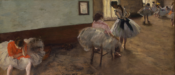 Fig. 4. Edgar Degas, The Dance Lesson, c. 1879, oil on canvas, 38 x 88 cm, National Gallery of Art, Washington, Collection of Mr. and Mrs. Paul Mellon, 1995.47.6. Photo National Gallery of Art, Washington.