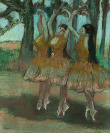 Fig. 6. Edgar Degas, La Danse Grecque (Dancing Ballerinas), 1885-90, pastel on joined paper laid down on board, 580 x 490 mm. On loan from the Honorable Earle I. Mack Collection.
