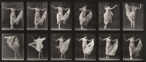 Fig. 5. Eadweard J. Muybridge (American, born England. 1830-1904), Woman Dancing (Fancy): Plate 187 from Animal Locomotion (1887) .