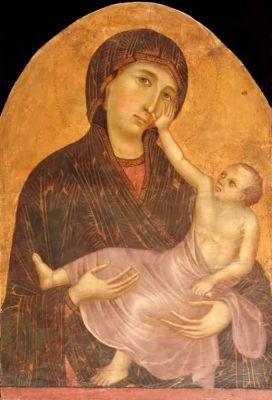 Cimabue (Cenni di Pepi, detto il, 1240 ca.-1302) (in coll. con Giotto),Madonna col Bambino, dipinto su tavola, 68 x 47 cm, Castelfiorentino (FI), Pinacoteca