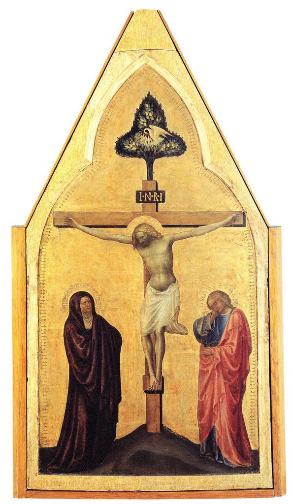 Masolino da Panicale (Tommaso di Cristoforo Fini, detto il, 1383-1440), Crocifissione, pannello di polittico, Pinacoteca Vaticana