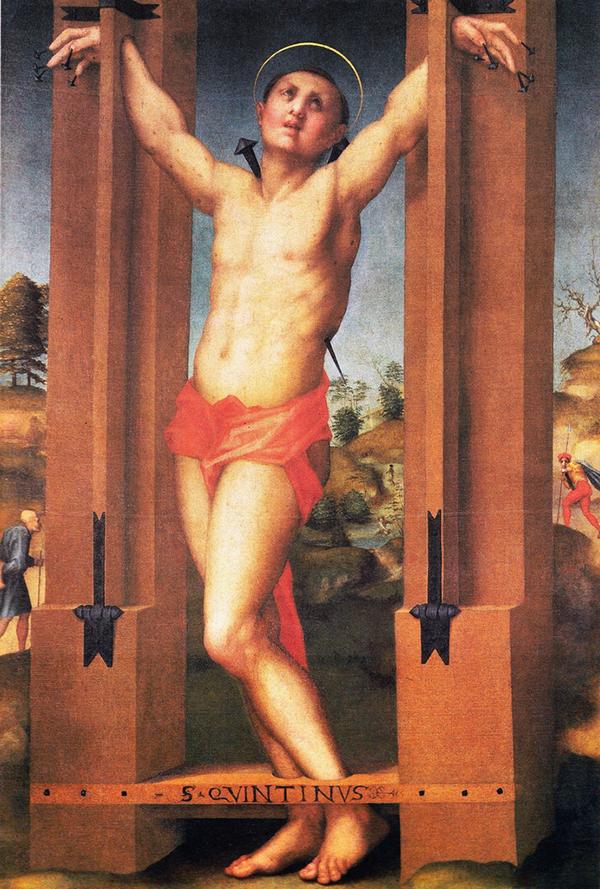 Pontormo (Jacopo Carucci detto il, 1494-1556), San Quintino, dipinto su tavola, 150 x 100 cm, Sansepolcro (AR), Museo Civico