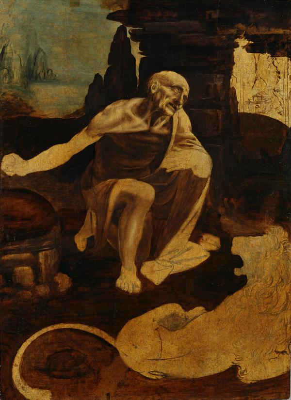 Fig. 4 Leonardo da Vinci (1452–1519), Saint Jerome, about 1488–90,  oil on walnut, 103 x 75 cm, Musei Vaticani, Vatican City (40337). © Photo Vatican Museums.