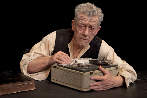 John Hurt in Krapp's Last Tape at BAM. Photo Richard Termine.