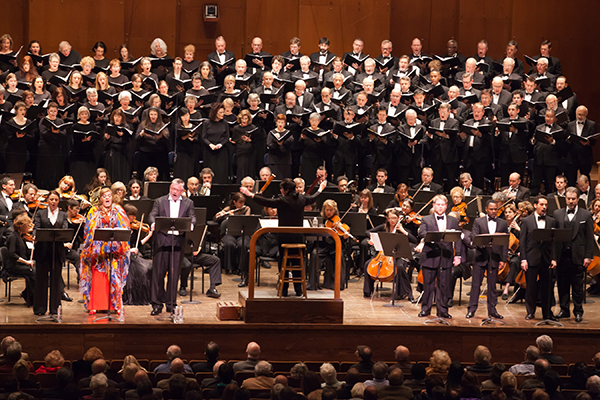 Eve Queler conducts the Opera Orchestra of New York in Wagner's Rienzi at Avery Fisher Hall. Photo Chris Lee.