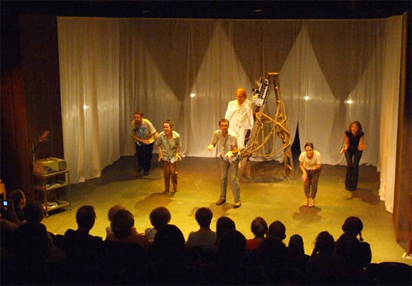 A scene from the House of Fitzcarraldo by Buran Theatre