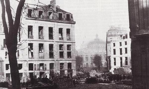 Percement de l'Avenue de l'Opera, 1870. Photo de Charles Marville.
