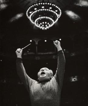 Eugene Ormandy, ca. 1965. Photo by Adrian Siegel.