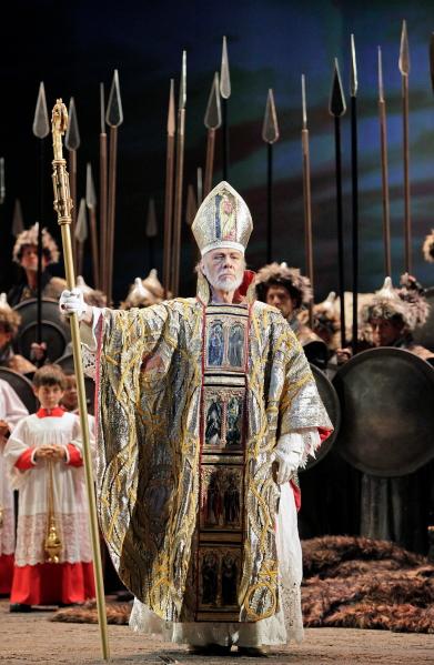 Attila: Samuel Ramey (Pope Leo I). Photo Cory Weaver.