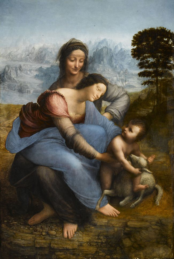 Leonardo da Vinci, The Madonna and Child with St. Anne. Musée du Louvre, Paris.