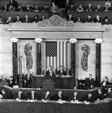The State of the Union address, 8 January 1964. LBJ Library photo by Cecil Stoughton.