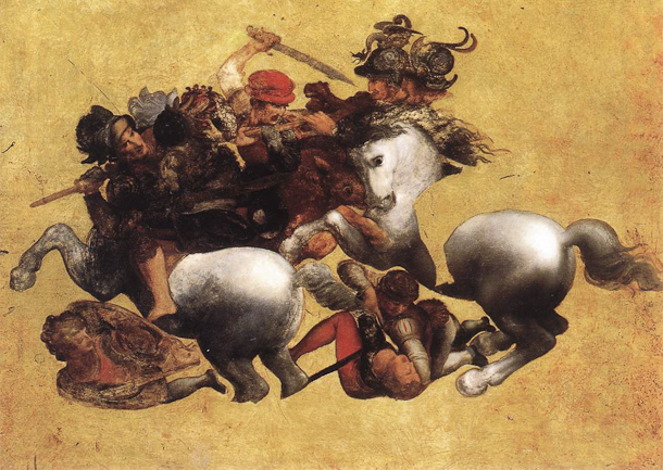 Leonardo da Vinci, The Battle of Anghiari (Tavola Doria)
