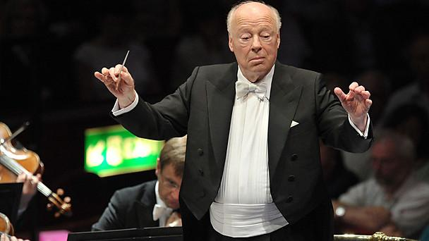 Bernard Haitink conducts the Vienna Philharmonic at the Proms. Photo: BBC/Chris Christodoulou.