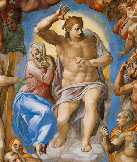 Michelangelo Buonarroti, The Last Judgment, Christ.