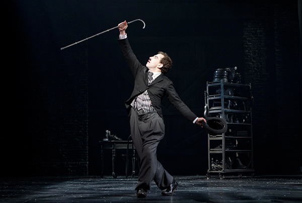 Rob McClure as Charlie Chaplin. Photo © 2012 Joan Marcus.