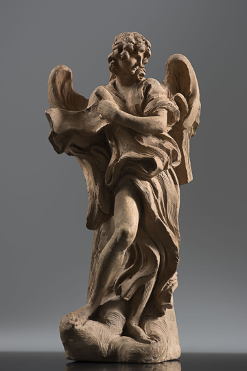Fig. 5.Gian Lorenzo Bernini, Angel with the Superscription, 1667–68. Terracotta. Harvard Art Museums/Fogg Museums, Cambridge, Massachusetts, Alpheus Hyatt Purchasing and Friends of the Fogg Art Museums Fund, 1937.67
