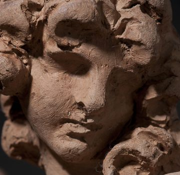 Fig. 5. Gian Lorenzo Bernini, Angel with the Superscription, 1667–68. Terracotta. Detail. Harvard Art Museums/Fogg Museums, Cambridge, Massachusetts, Alpheus Hyatt Purchasing and Friends of the Fogg Art Museums Fund, 1937.67