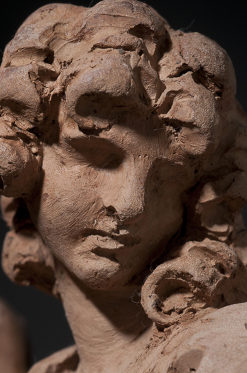 Fig. 6. Gian Lorenzo Bernini, Angel with the Superscription, 1667–68. Terracotta.  Detail. Harvard Art Museums/Fogg Museums, Cambridge, Massachusetts, Alpheus Hyatt Purchasing and Friends of the Fogg Art Museums Fund, 1937.67