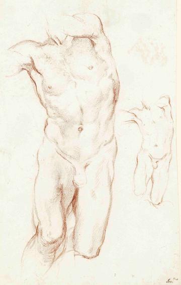 Fig. 9. Gian Lorenzo Bernini, Two Studies for Daniel, c. 1655, Red chalk. Museum der Bildenden Kunste/Leipzig Museum of Fine Arts.