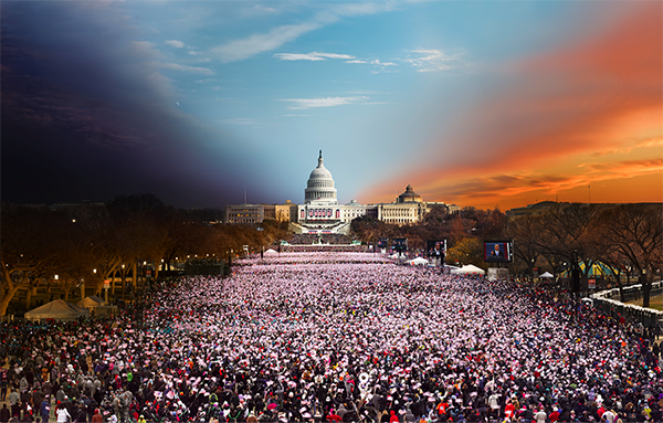 Inauguration, Washington, DC, January 21, 2013 Day to Night Digital C Print by Steven Wilkes