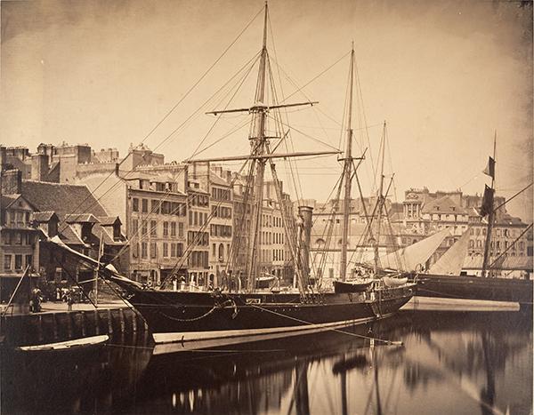 La Reine Hortense, Yacht de L'Emperor, Le Havre by Gustave Le Gray, 1856
