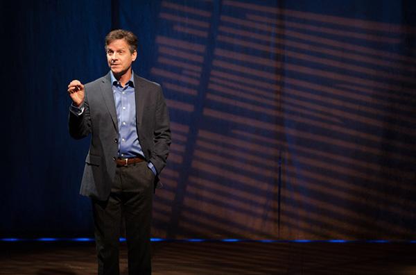 """Martin Moran in """"Karel"""". Photo Kevin Thomas Garcia."""