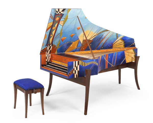 """Moderne"" harpsichord by Richard Kingston."