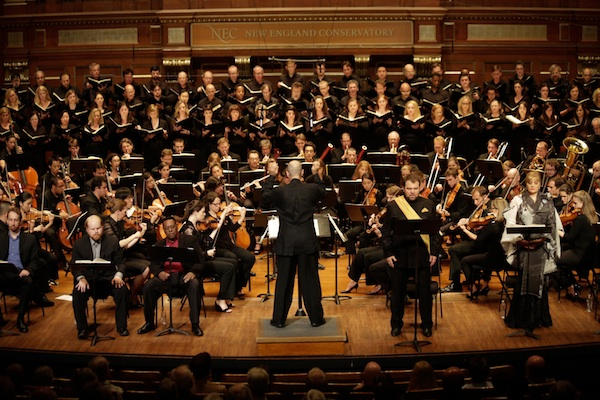 Odyssey Opera led by Conductor Gil Rose. Photo by Kathy Wittman.