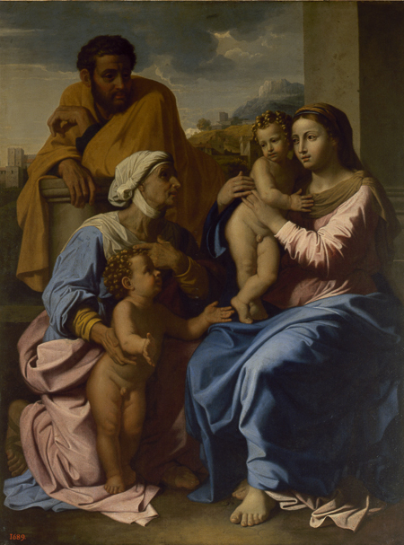 Fig. 11. Nicolas Poussin,The Holy Family with St. John and Elizabeth. Copyright: State Hermitage Museum.