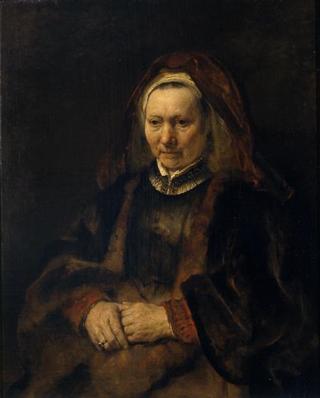 Fig. 9. Rembrandt van Rijn, Portrait of an Elderly Lady. Pushkin Museum, Moscow.