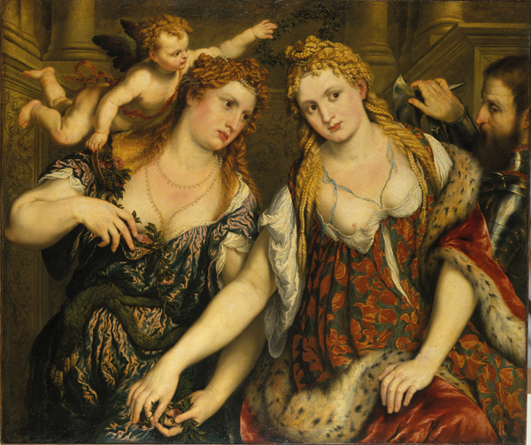 Fig. 3. Paris Bordone, Two Women, a Cupid and a Soldier. Copyright: The State Hermitage Museum
