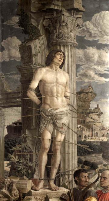 Andrea Mantegna, Saint Sébastien, vers 1480, Musée du Louvre