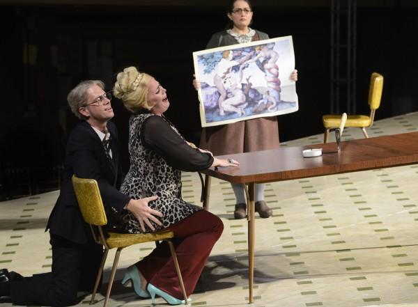 Daniel Mobbs, Caroline Worra, and Heather Johnson in Boston Lyric Opera's production of Jack Beeson's Lizzie Borden