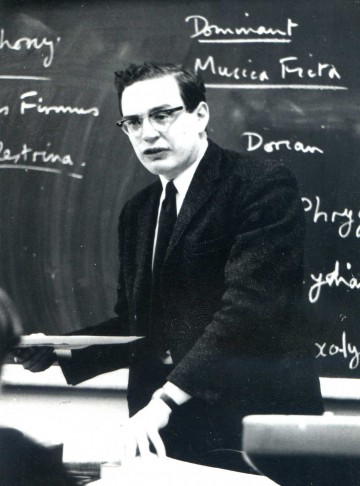 Keith Francis in the classroom, c. 1970