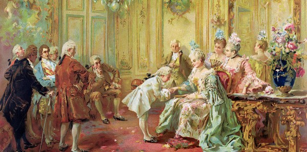 Presentation of the Young Mozart to Mme de Pompadour at-Versailles by Vicente de Parades