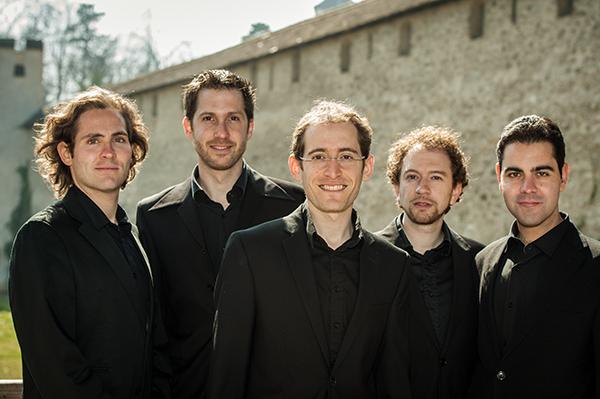 I Profeti della Quinta: Doron Schleifer, David Feldman, Dino Lüthy, Dan Dunkelblum, Elam Rotem. Photo © Susanna Drescher 2012.