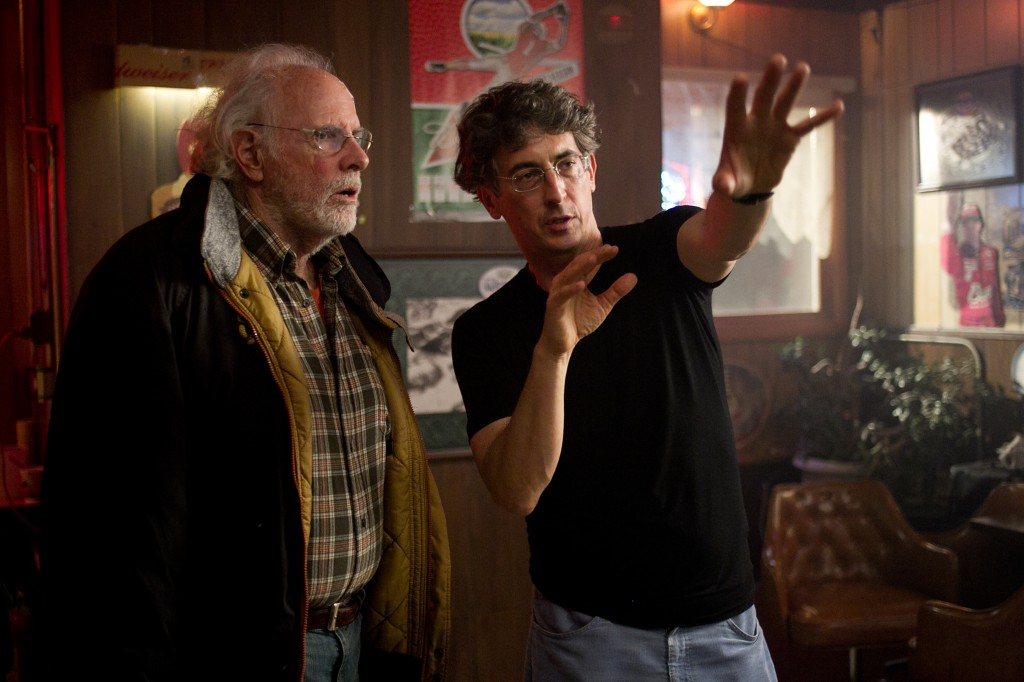Alexander Payne and Bruce Dern on the set of  Nebraska.