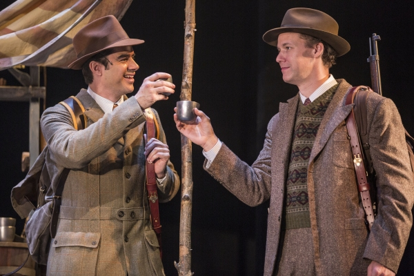 Rod Thomas (Jeff Douglas) and Kevin Earley (Tommy Albright) in Brigadoon at the Goodman Theatre, Chicago