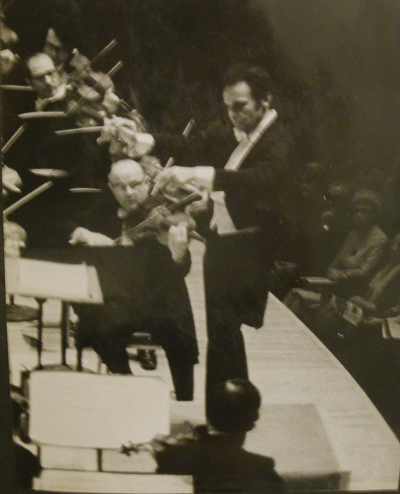 Lorin Maazel on the podium. Photo Steven Kruger.
