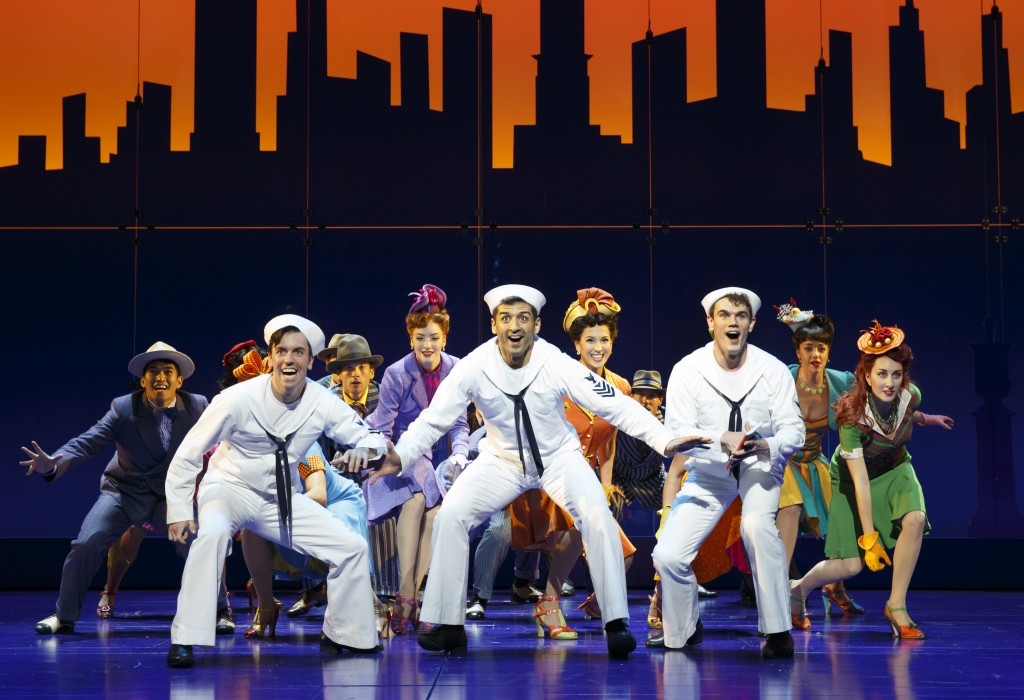 Clyde Alves, Tony Yazbeck, Jay Armstrong Johnson and the Cast of On The Town. Photo © Joan Marcus