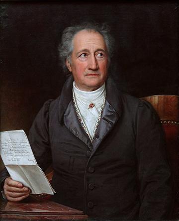 Johann Wolfgang von Goethe, by Joseph Karl Stieler, 1828. Oil.