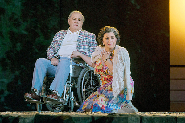 lan Opie (Leon Klinghoffer) and Michaela Martens (Marilyn Klinghoffer) in The Death of Klinghoffer. Photo Credit: Ken Howard/Metropolitan Opera.