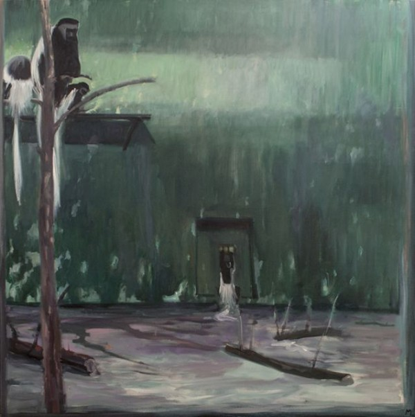 Michael Mazur, Cage at Stoneham 23, 1977. Oil on canvas, 66 x 66 in.