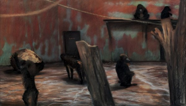 Cage at Stoneham III, 1976 Pastel on paper, 40 1/2 x 64 1/2 in.