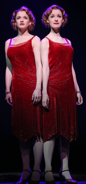 "Emily Padgett and Erin Davie in a scene from ""Side Show"". Photo Joan Marcus."