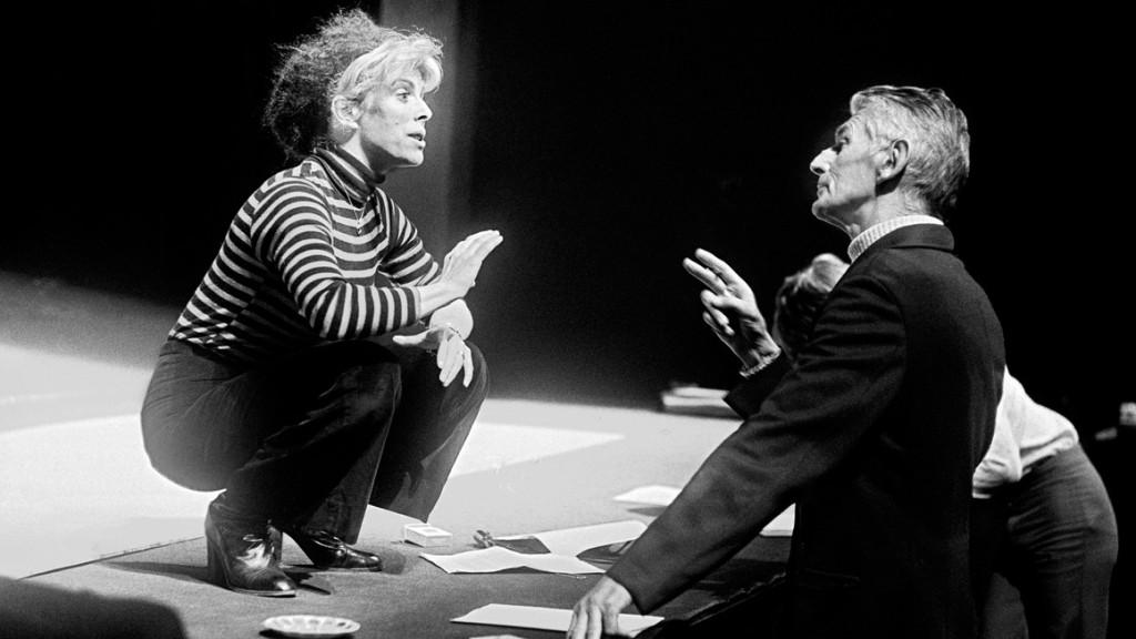 Billie Whitelaw and Samuel Beckett rehearsing Not I