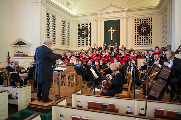 Greg Funfgeld conducts the 2014 Christmas Concert.
