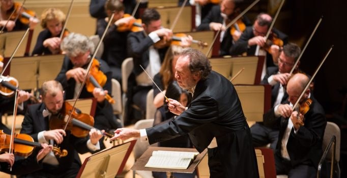 Riccardo Chailly conducts the Leipzig Gewandhaus Orchestra in Symphony Hall.
