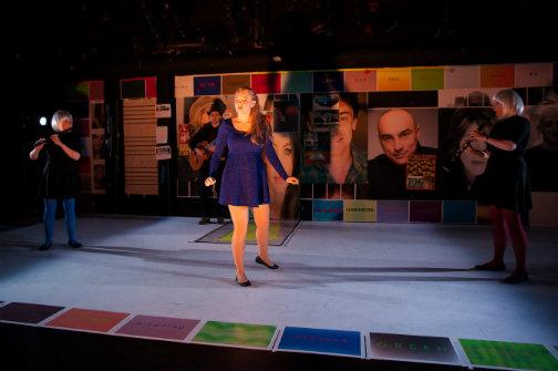 Tony Naumovski as Kareem, Hayley Treider as Caroly.Photo Sasha Karasev.